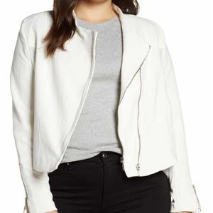 NWT BLANKNYC Denim Mesh Detail Crepe Jacket